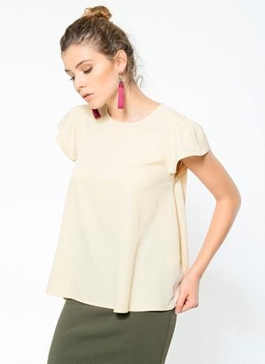 Vero Moda Tişört Krem
